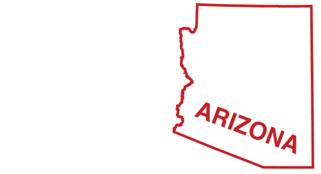 An outline of the state of Arizona