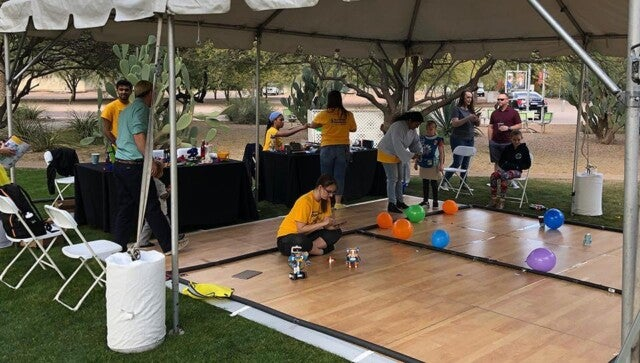 ETCs share their excitement with ASU Polytechnic Campus visitors at Open Door 2019.